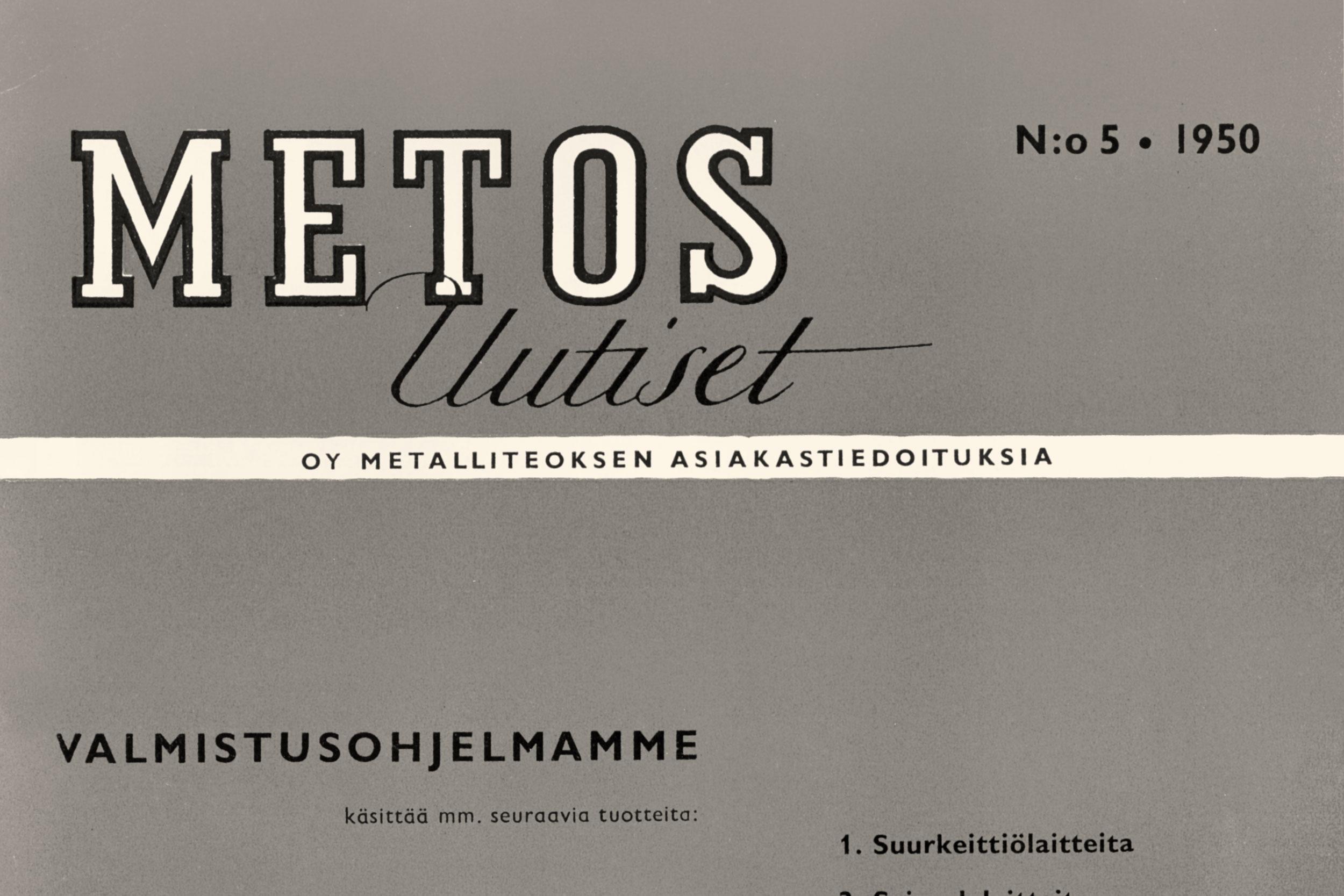 Metos Uutiset no 5 1950